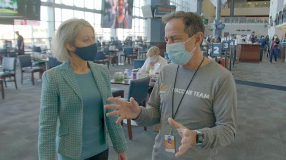 Correspondent Andrea Kremer with Dave McGillivray