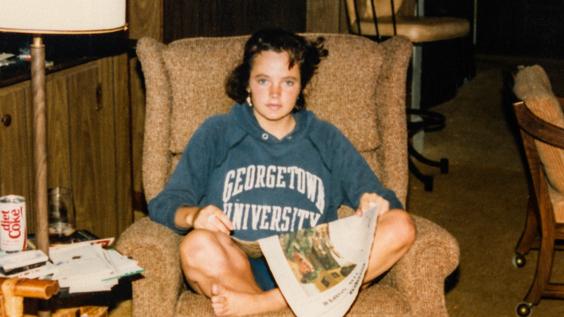 Michelle McNamara as a teen
