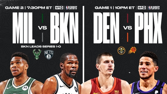 TNT to Feature 2021 NBA Conference Semifinals presented by FanDuel Sportsbook Doubleheader Tonight – Bucks/Nets Game 2 and Nuggets/Suns Game 1 – Beginning at 7:30 p.m. ET