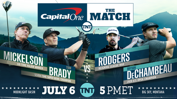 Turner Sports to Exclusively Present Capital One's The Match, Simulcast on TNT, TBS & truTV — Tuesday, July 6, at 5 p.m. ET