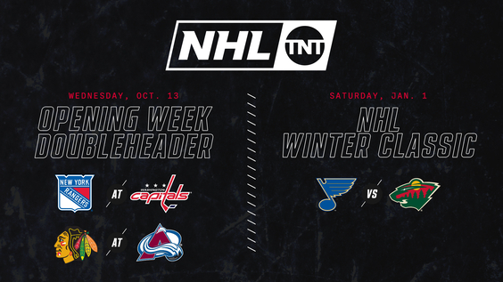 Turner Sports' First Night of NHL Action to Feature TNT Doubleheader – New York Rangers at Washington Capitals & Chicago Blackhawks at Colorado Avalanche – on Wednesday, Oct. 13