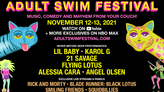 2021 Adult Swim Festival Initiates Global Takeover Heading to Screens Everywhere this November
