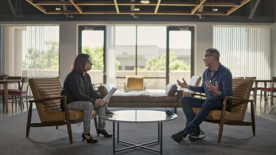 Axios Chief Technology Correspondent Ina Fried; David Baszucki, CEO, Roblox