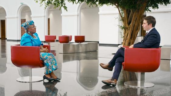 Dr. Ngozi Okonjo-Iweala, Director-General, World Trade Organization (WTO); Axios National Political Correspondent Jonathan Swan