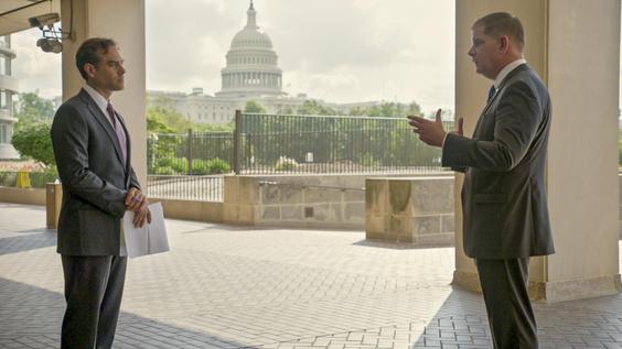 Axios Business Editor Dan Primack, Marty Walsh, U.S. Secretary of Labor